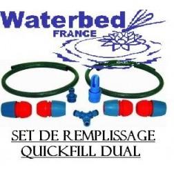 Kit d'extension pour remplissage lit à eau double poche