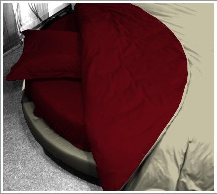housse de couette ronde pour lit rond. Black Bedroom Furniture Sets. Home Design Ideas