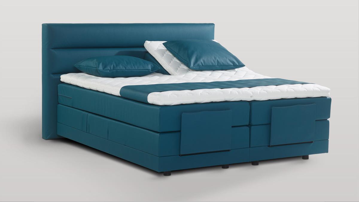 Lit américain, Boxspring Bed avec matelas à ressorts ensachés
