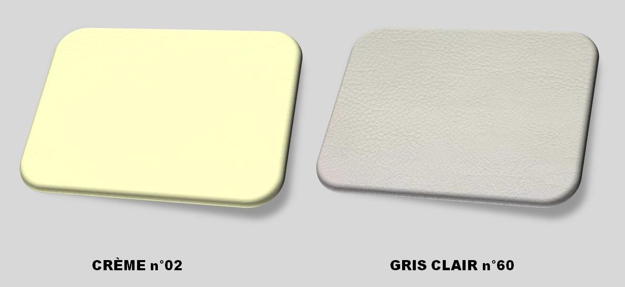 Couleurs cuir crème - gris clair