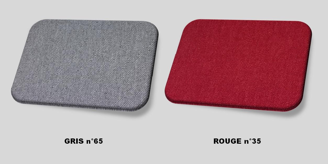 Couleurs tissu gris - rouge
