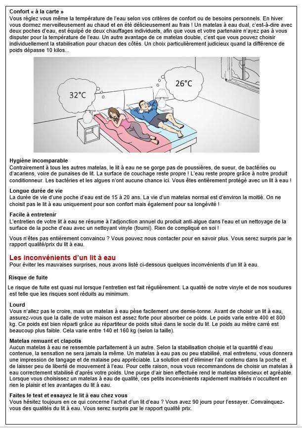 Le lit à eau, avantages et inconvénients