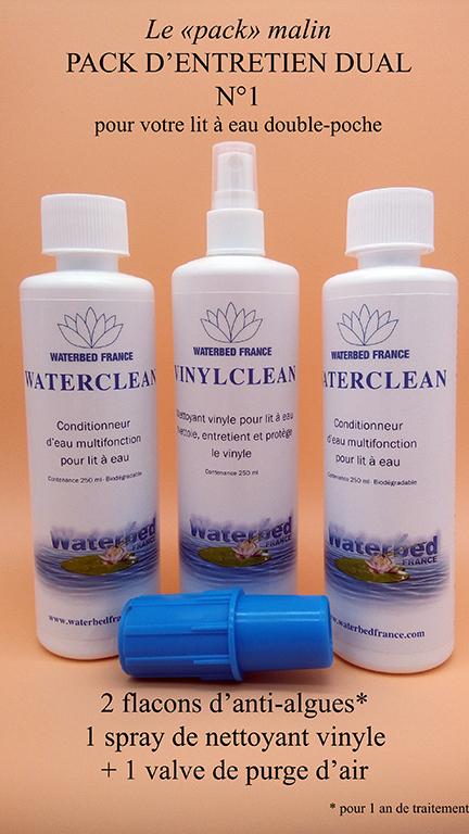 Pack d'entretien dual pour lit a eau Waterbed France