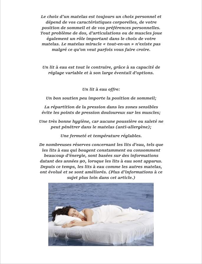 Pourquoi changer pour un lit à eau, les bienfaits du lit à eau Waterbed France