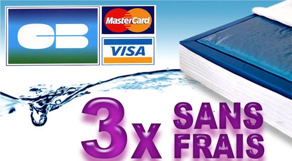 Paiement trois fois sans frais Waterbed France