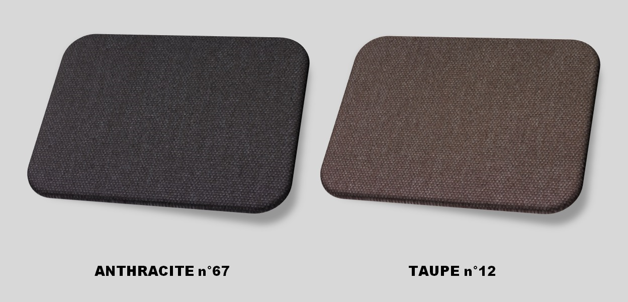 Couleurs tissu anthracite - taupe