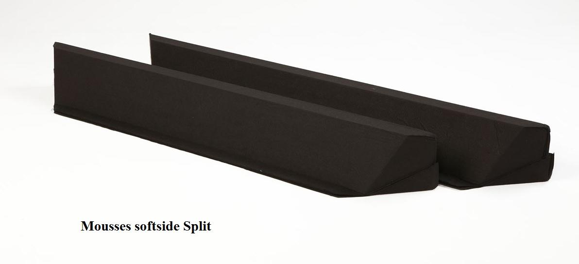 Barres en mousse Split pour lit à eau softside