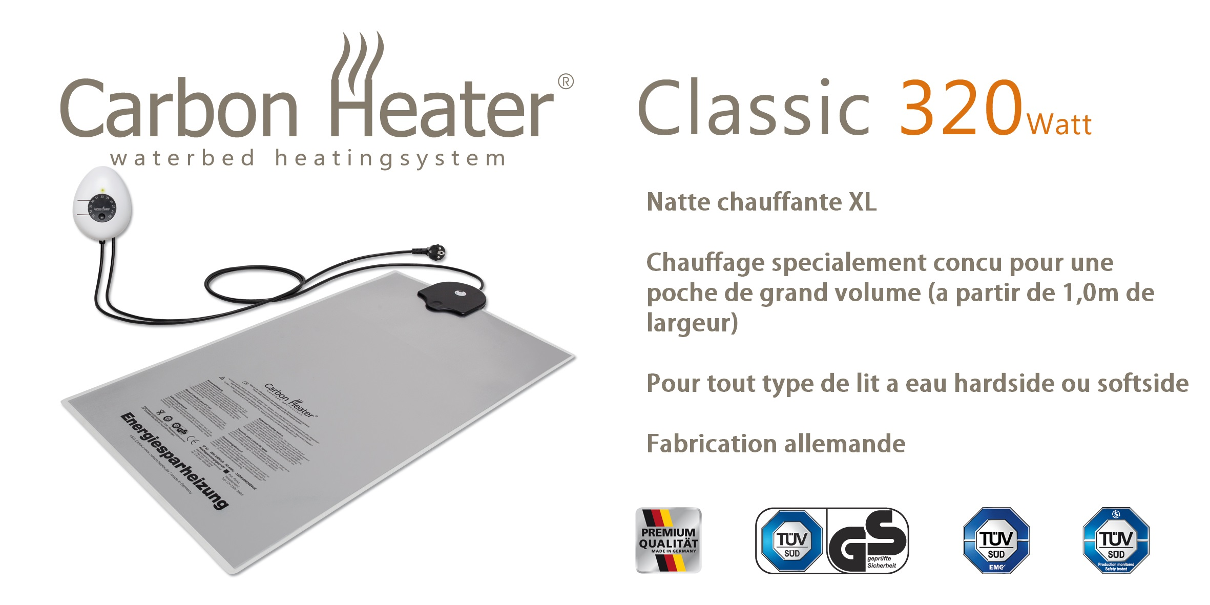 Chauffage pour lit a eau TBD Classic 320W